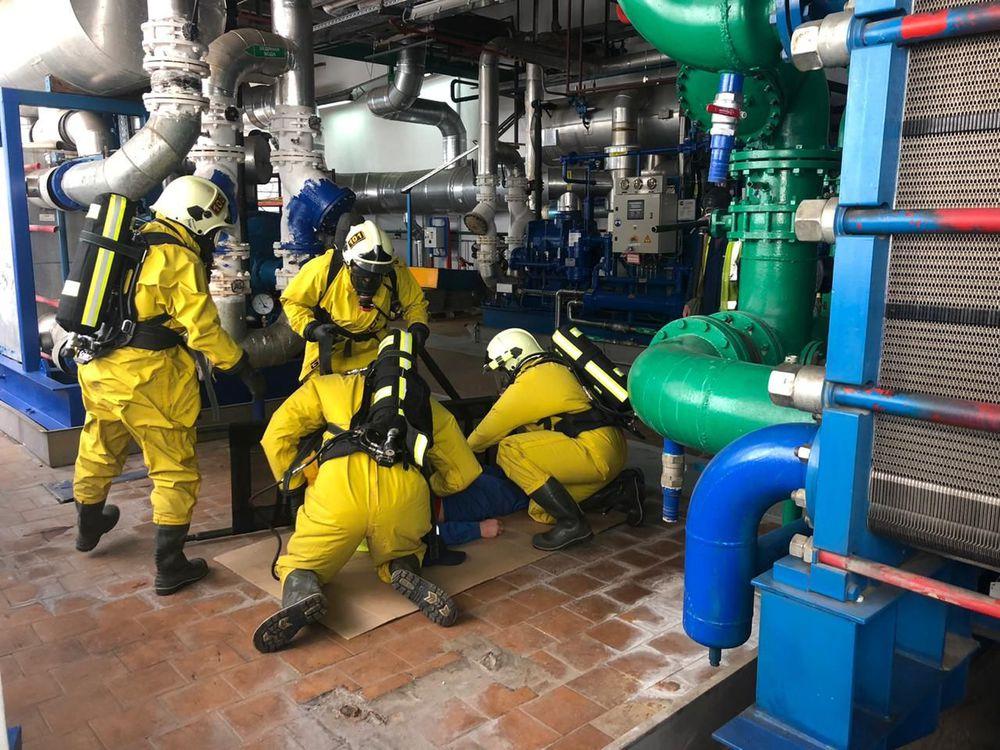 Аварийно-спасательная служба №1 провела учения по ликвидации ЧС на опасных производственных объектах