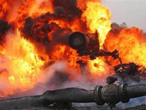 Взрыв при ремонте газопровода. Газоспасательные работы.
